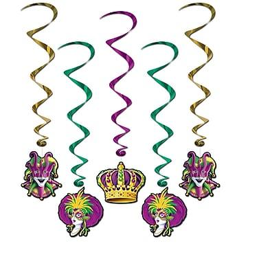 Mardi Gras Whirls, 3' 4