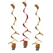 "Beistle 3' 4"" Dragon Whirls, Gold/Red, 9/Pack"