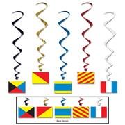 Beistle 3' 4 Nautical Flag Whirls, 15/Pack