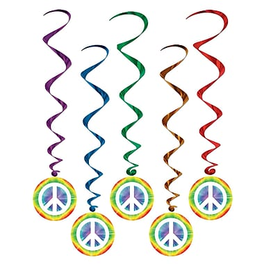 Tie-Dye Peace Sign Whirls, 3' 2