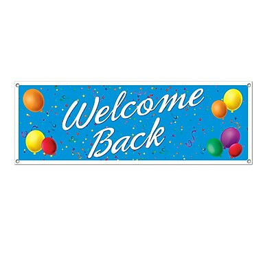 Welcome Back Sign Banner, 5' x 21