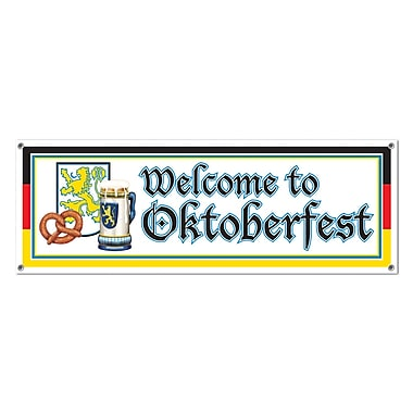 Welcome To Oktoberfest Sign Banner, 5' x 21