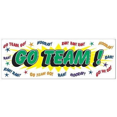 Bannière « Go Team », 5 pi x 21 po, paquet de 3