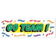 "Beistle 5' x 21"" Go Team Sign Banner, 3/Pack"