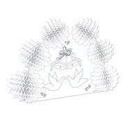 "Beistle 10"" Wedding Pop-Over Centerpiece, 4/Pack"