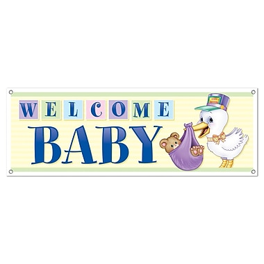 Welcome Baby Sign Banner, 5' x 21
