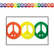 """Beistle Peace Sign Garland, 5 3/4"""" x 12', 3/Pack"""