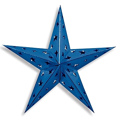 Dimensional Foil Star, Blue, 3/Pack