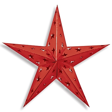 Dimensional Foil Star, Red, 3/Pack