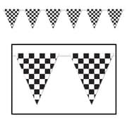 "Beistle 23"" x 12' Checkered Giant Pennant Banner, 2/Pack"
