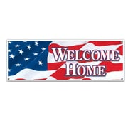 "Beistle 5' x 21"" Welcome Home Sign Banner, 3/Pack"