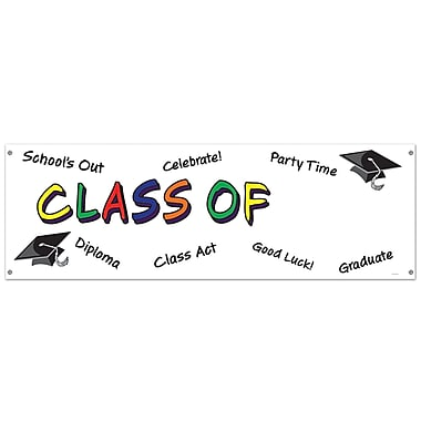 Class Of Year Sign Banner, 5' x 21