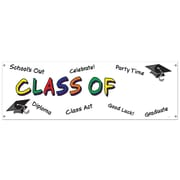 """Beistle 5' x 21"""" Class Of Year Sign Banner, 3/Pack"""