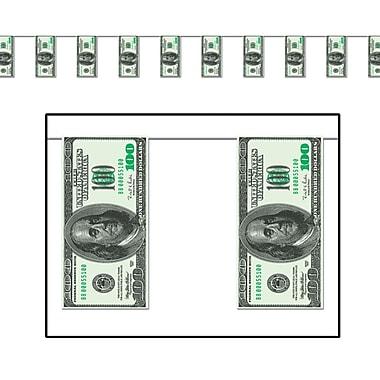 Bannière à fanions Billets de 100 $, 10 po x 12 pi, paq./4