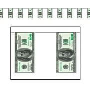 "$100 Bill Pennant Banner, 10"" x 12', 4/Pack"