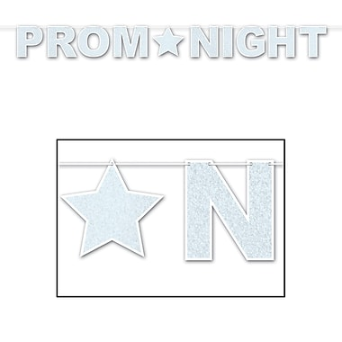 Glittered Prom Night Streamer, 8-1/2