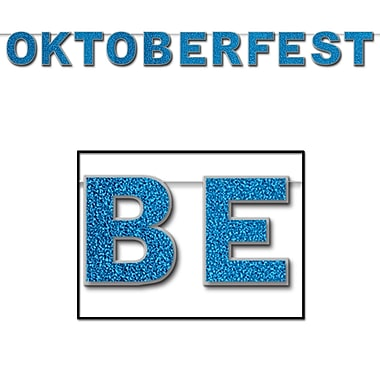 Banderole scintillante Oktoberfest, 8 1/2 po x 9 pi, paq./2