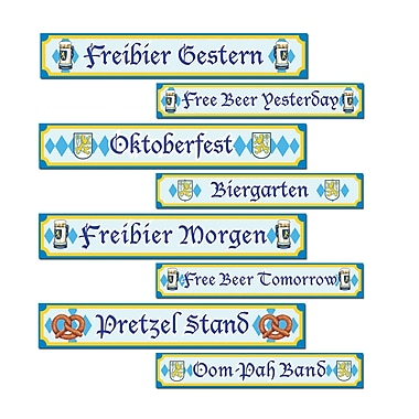 Oktoberfest Sign Cutouts, 4