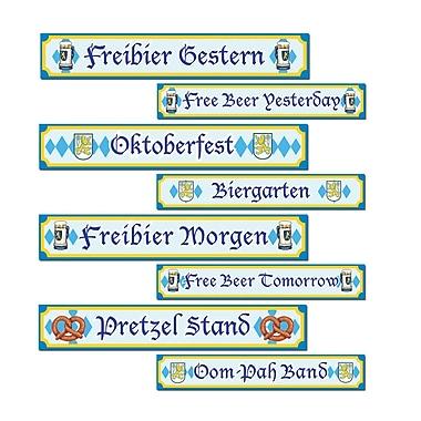 Affiche découpes en carton Oktoberfest, 4 x 24 po, paq./12