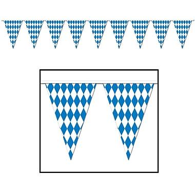 Bannière à fanions Oktoberfest, 17 po x 30 pi, paq./2