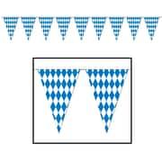 """Beistle 17"""" x 30' Oktoberfest Pennant Banner, Blue/White, 2/Pack"""