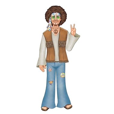 Beistle Jointed Male Hippie, 3' 1