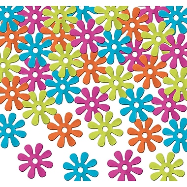 Retro Flowers Fanci-Fetti, Multi-Colour, 5/Pack