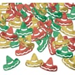 "Beistle 1/4"" Sombreros Fanci Confetti, Red/Gold/Green, 5/Pack"