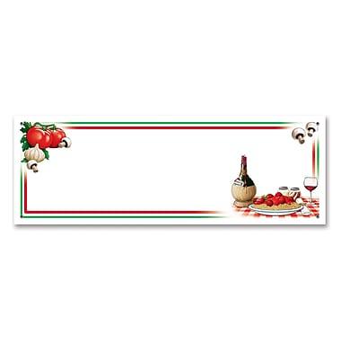 Italian Night Sign Banner, 5' x 21