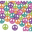 Beistle Fanci-Fetti Peace Signs Confetti, Assorted, 5/Pack