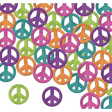 Peace Sign Fanci-Fetti, Multi-Colour, 5/Pack
