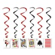 Beistle 3' 4in. Playing Card Whirls, 15/Pack