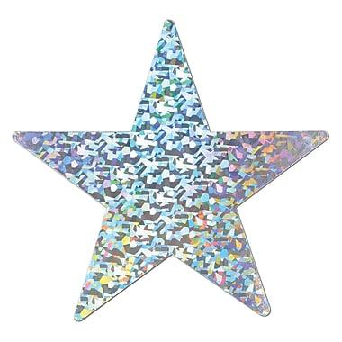 Étoile en aluminium prismatique, argenté, 6/paquet