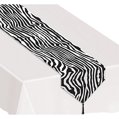 Printed Zebra Print Table Runner, 11