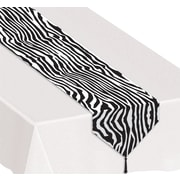 Beistle 11 x 6' Printed Zebra Print Table Runner, 4/Pack