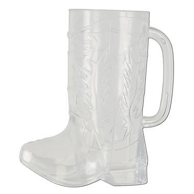 Plastic Cowboy Boot Mug, Holds 17 Ounces, 3/Pack