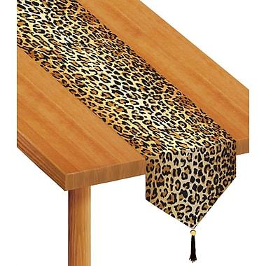 Chemin de table à imprimé léopard, 11 po x 6 pi, 4/paquet