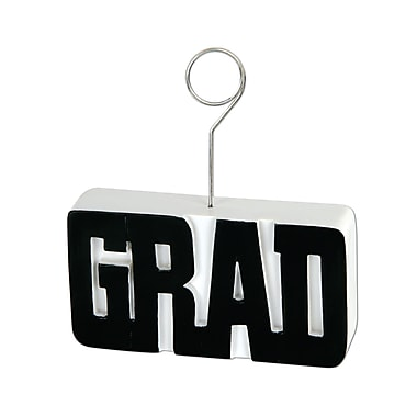 Porte-photo/ballon « Grad », 6 oz, noir, paquet de 3