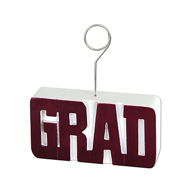 Grad Photo/Balloon Holder, 6 Ounces, Maroon, 3/Pack