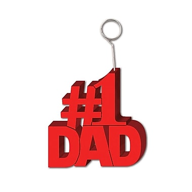 #1 Dad Photo/Balloon Holder, Each Photo/Balloon Weight Is 6 Ounces, 3/Pack