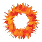 Beistle 8 Feather Wreath, Golden-Yellow/Orange/Red, 2/Pack