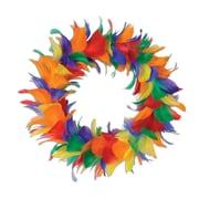 Beistle 8 Feather Wreath, Rainbow, 2/Pack