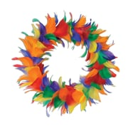 Beistle 12 Feather Wreath, Rainbow