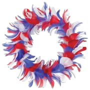 Beistle 12 Feather Wreath, Red/White/Blue