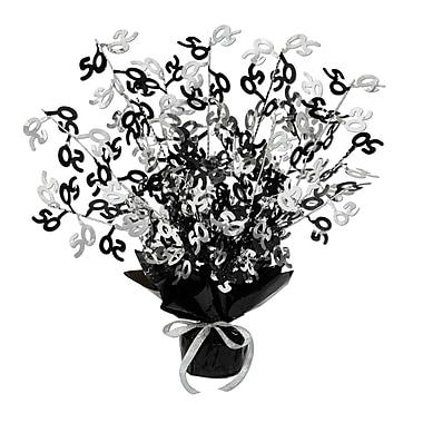 Centre de table bouquet 50 brillant, 15 po, noir, 3/paquet