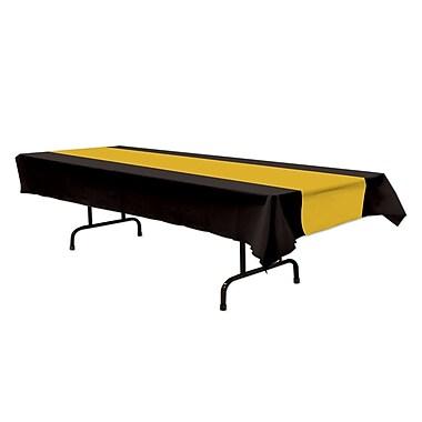 Nappe, 54 x 108 po, noir/doré, 3/paquet