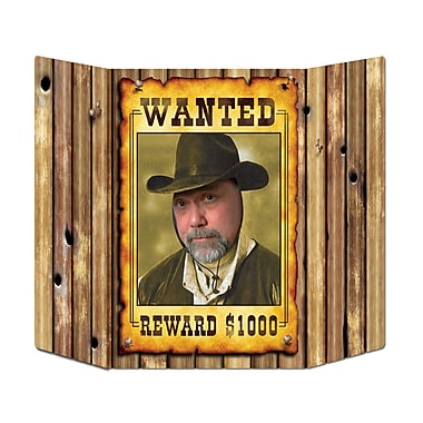 Accessoire photo affiche « Wanted », 3 pi 1 po x 25 po, 2/paquet