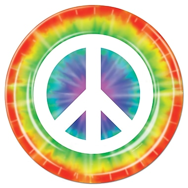Beistle Peace Sign Plate, 9