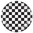 "Beistle 9"" Checkered Plate, Black/White, 24/Pack"