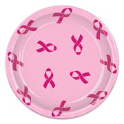 "Beistle 9"" Ribbon Plate, Pink, 12/Pack"